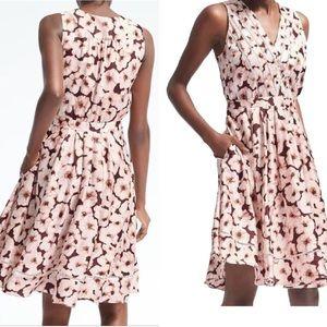 BANANA REPUBLIC • floral midi dress